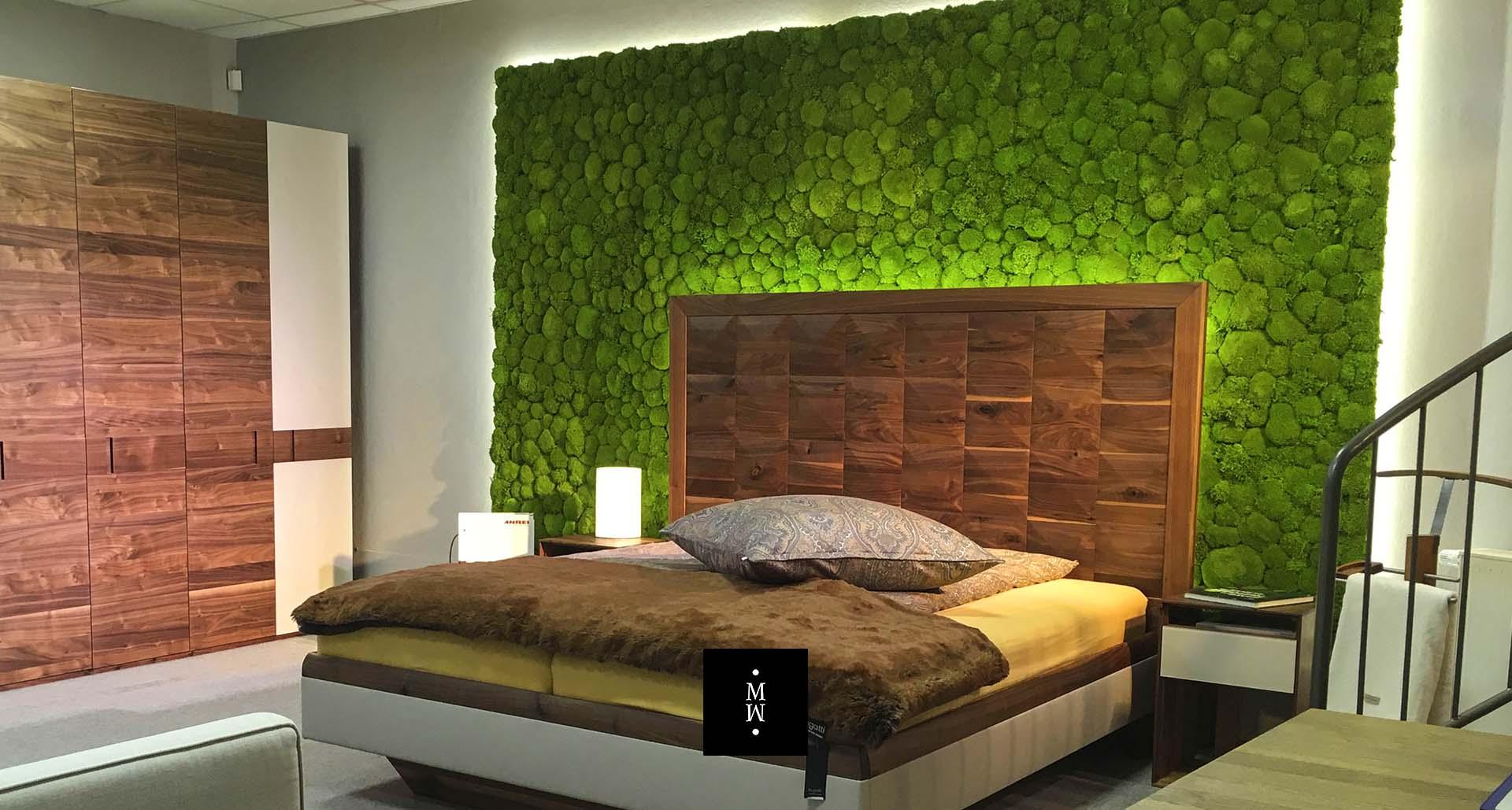 Mooswand Ballenmoos Schlafzimmer Betten Heber